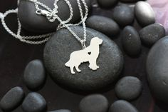 Golden Retriever breed necklace with heart cutout by IvyByDesign on Etsy.  Love this necklace - show how much your best friend means to you!    Need