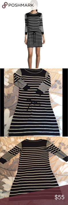 """Rachel Zoe """"Tommy"""" striped sweater dress size XS Adorable striped sweater dress! EUC. Measurements shown in photos. (Length is approx 36.5"""" from top of shoulder.) Please ask questions or request additional photos if you'd like, I want you to be happy with your purchase! ❌Model❌Trade❌✅Offers✅ Rachel Zoe Dresses"""