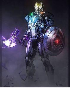 Wall Art - Digital Art - The Avengers by Sulyman Amosa , Marvel Fanart, Marvel Dc Comics, Marvel Heroes, Mcu Marvel, Captain Marvel, Captain America, Iron Man Avengers, The Avengers, Batman Vs