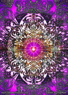 Purple Heart Mandala by Daniel B. Holeman