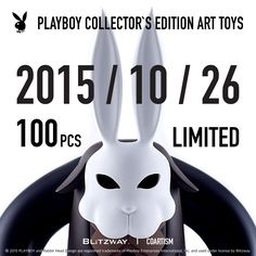 [ PLAYBOY COLLECTOR'S EDITION ART TOYS ]  PLAYBOY X Hands In Factory  100 pcs Limited Launching Date 2015.10.26(Mon) Shop www.coartism.com   Price  Korea 330,000 KRW (배송비 포함) International 320 USD   Product Contents Shipping Fee : Shipping fee is not included(international) Shipping : Within 7~10 days after order  Size : H 11.8 inch W 7.5 inch  Main Body Weight : 1000g Material : PU,PVC,ABS Manufacturer : Blitzway, Coartism Country of Origin : China  Contact : coartism@coartism.com Playboy Enterprises, 10 Days, Country Of Origin, The Collector, Body Weight, Abs, Product Launch, Black And White, Crunches