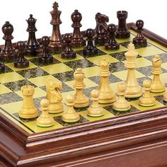 Prince Staunton Rosewood Chessmen from India  Bellagio Chess Board Cabinet From Italy * To view further for this item, visit the image link.