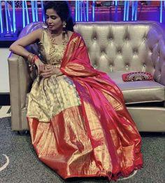 Saree Blouse Patterns, Saree Blouse Designs, Half Saree Lehenga, Anarkali, Sarees, Frock Models, Sumo, Kurti Neck Designs, Royal Clothing