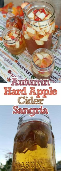 Crisp fall flavors compliment each other in this Autumn Hard Apple Cider…