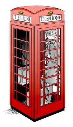 Hetalia- England. That should be a police box! o7o