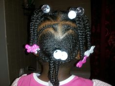 Heart braids ponytails