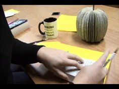 Use an old paperback book to create a fun Fall table decoration! This is not a child's craft as you have to use a sharp knife to cut through the book pages! ...