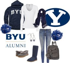 """""""BYU """"Go Cougars"""" !!!!!!!!!!"""" by srichards9800 on Polyvore"""