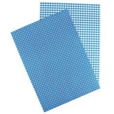 Feuille A4 autocollante - Papier - 21 x 29,7 cm - Bleu