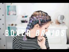 Como fazer boxer braids em cabelo curto e médio // O MUNDO DE JESS - YouTube