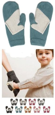 Keeping each other's hands warm! Mommy mittens! ! Such a sweet idea and cute gift!