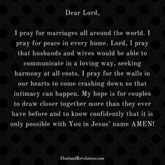 Pray for blessed Marriages - L