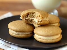 Brown Sugar Whoopie Pies with Dulce de Leche Filling | Baking Bites