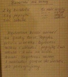 Buraczki na zimę Polish Recipes, Tzatziki, Fruits And Veggies, Food And Drink, Homemade, Canning, Salads, Food And Drinks, Fruits And Vegetables