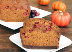 Great for a Holiday brunch or an Open House, try our Cranberry-Pumpkin Honey Spice Bread.