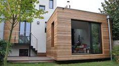 façade bois toit plat - Recherche Google