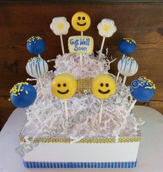 Get Well Soon Cake Pops 12 Cake Pops di TheMaDCakePopShop su Etsy