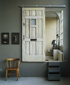 20 Simple and Creative Ideas Of How To Reuse Old Doors - Room divider