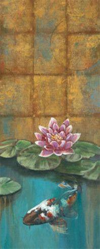Golden Koi II Art Print