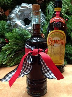 Homemade Kahlua Liqueur recipe - this gift from your kitchen needs to sit for 4 weeks so pick out some pretty bottles and get started !
