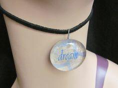Dream Glass Cabochon Necklace Pendant Q 90 by stevenssteampunk