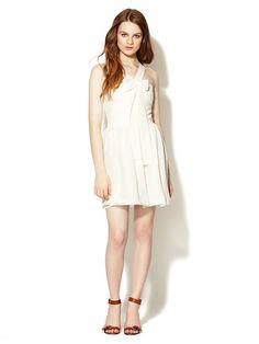 Libby Eyelet Bow Dress by Maje on Gilt.com