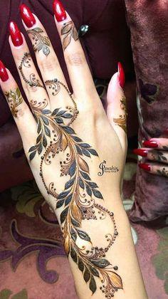 Floral Henna Designs, Finger Henna Designs, Henna Tattoo Designs Simple, Latest Bridal Mehndi Designs, Mehndi Design Pictures, Modern Mehndi Designs, Henna Art Designs, Mehndi Designs For Beginners, Wedding Mehndi Designs