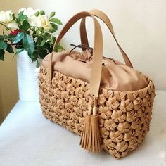 Photo Natural Accessories, Bucket Handbags, Art Bag, Straw Tote, Wholesale Bags, Basket Bag, Summer Bags, Knitted Bags, Handmade Bags