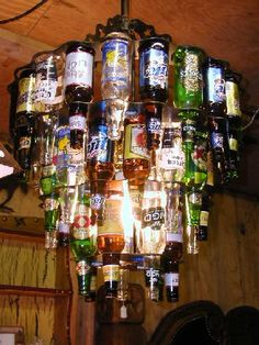 Beer Bottle Chandelier Only For The Bunkhouse