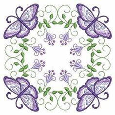 Butterfly Fancy Block 6 - 3 Sizes! | What's New | Machine Embroidery Designs | SWAKembroidery.com Ace Points Embroidery