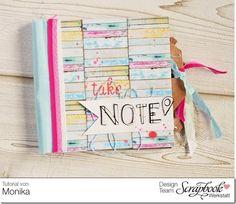 Scrapbook Werkstatt - Mini-Album mit Einstecktaschen im Shabby-Style