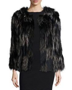 DIANE VON FURSTENBERG Two-Tone Fox Fur Coat. #dianevonfurstenberg #cloth #