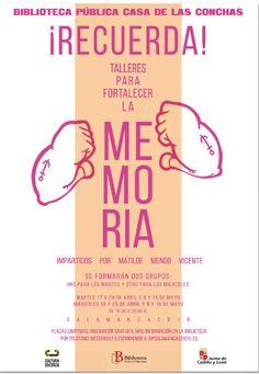 Las sesiones del Taller de Memoria de Memoria impartido por Matilde Mendo, dentro del programa de la Junta de Castilla y León: Cultura Diversa. , serán los martes 8 y 15 y los miércoles 9 y 16 a las 18.30 h., en la Sala Turismo.