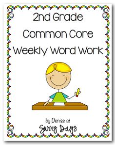 2nd Grade Weekly Word Work (Used to be Word Wizards)