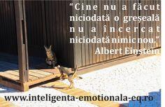 """""""Cine nu a făcut niciodată o greșeală nu a încercat niciodată nimic nou."""" Albert Einstein"""