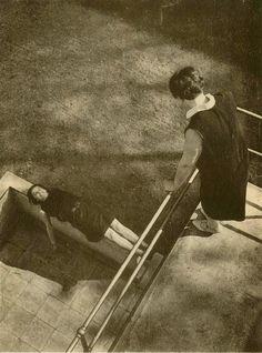 by László Moholy-Nagy, Perspective, Original vintage photogravure, Tristan Tzara, Vintage Photography, Portrait Photography, Straight Photography, Dancing On The Edge, Laszlo Moholy Nagy, Modernisme, Bauhaus, Historical Photos