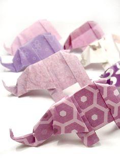 10 Origami Elephants