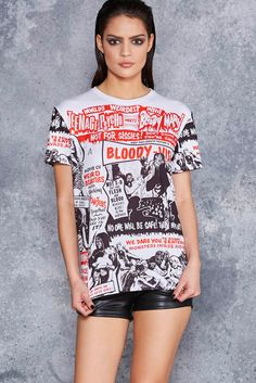 Horror Movie Right There On My BFT - 48HR ($60AUD) by BlackMilk Clothing