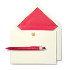 Amazon.com : Kate Spade To Whom it May Concern Pen & Notecard Set - Stationary Gift Paper 136296-KS : Office Products
