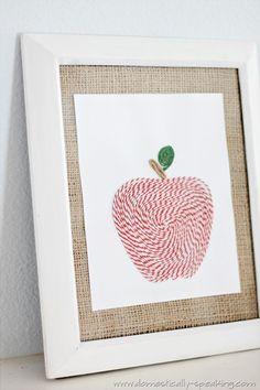 bakers twine apple art