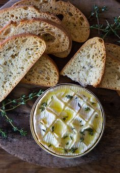 Baked Camembert with Garlic and Thyme