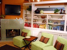 Check out these room designs from HGTV.com and create a vibrant space full of warmth with the color orange.