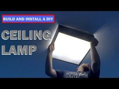 Get step by step instructions how to build and install a simple and modern ceiling lamp. This is a simple project that can be created on the cheap. Woodworking As A Hobby, Woodworking Projects, Modern Ceiling, Easy Projects, Ceiling Lamp, Step By Step Instructions, Building, Diy, Decoration