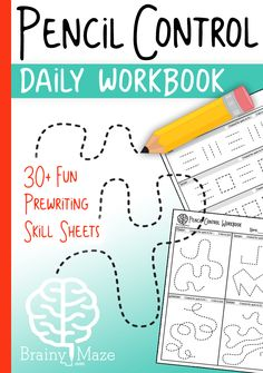 30 Skill Sheets for students to build prewriting skills. Students practice strokes and squiggles, pictures, and mazes! This is a fun set for Tots and PreK Preschool Writing, Preschool Learning, Fun Learning, Preschool Activities, Teaching, Time Activities, Motor Skills Activities, Classroom Activities, Toddler Activities