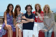 News Photo : TAORMINA, ITALY - JUNE 27: Tania Bambaci, Carol Alt, Michel Curatolo Kelly LeBrock and Tiziana Rocca poses at the photocall of Day 5 during the 58th Taormina Film Fest on June 27, 2012 in Taormina, Italy.