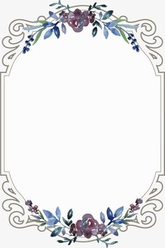 Vintage floral border, Flowers, Frame, Continental PNG and Vector