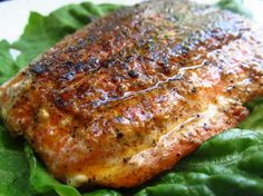 Slammin Blackened Salmon from Food.com:   This is the easiest and most delicious meal that I make! It turned my non-fish eating husband into a salmon maniac! It is quick simple and so luxurious. I have wowed many a guest with this simple recipe.