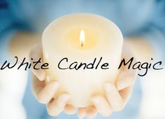 White candle is associated with the moon and female energy. It reflects all the colors and is a balance of all colors. It can strengthen the spells associated with other colored candles.  White candles promote peace, tranquility, purification, truth and spirituality.  Used in protection and healing spells and consecration rituals, to banish anger. Monday is the best day of the week to perform white candle magic.