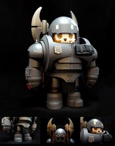 "Huck Gee's ""Squad 33: Hawkfin Brushwood"" resin art multiple released!!!"