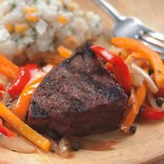 Grilled Steak with Pepper Relish for Two Slide